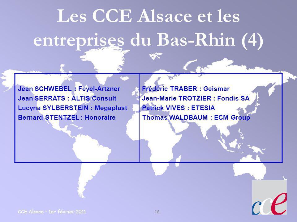 Les CCE Alsace et les entreprises du Bas-Rhin (4)