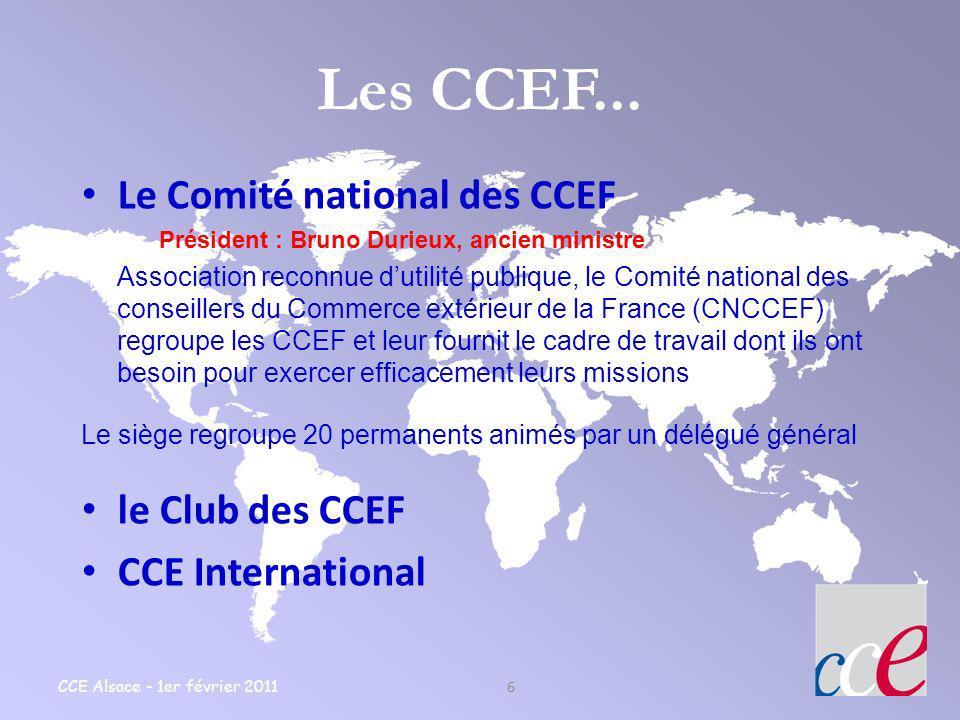 Les CCEF... Le Comité national des CCEF le Club des CCEF