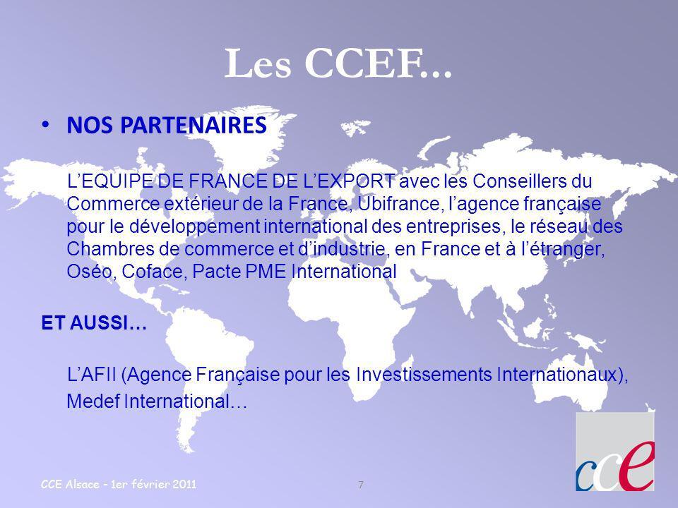 Les CCEF... NOS PARTENAIRES