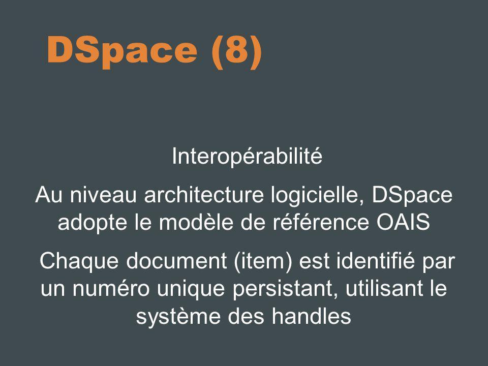 DSpace (8) Interopérabilité