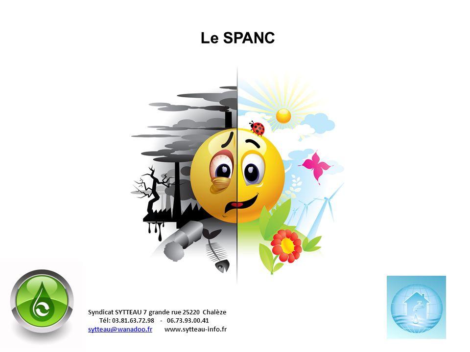 Le SPANC Syndicat SYTTEAU 7 grande rue 25220 Chalèze