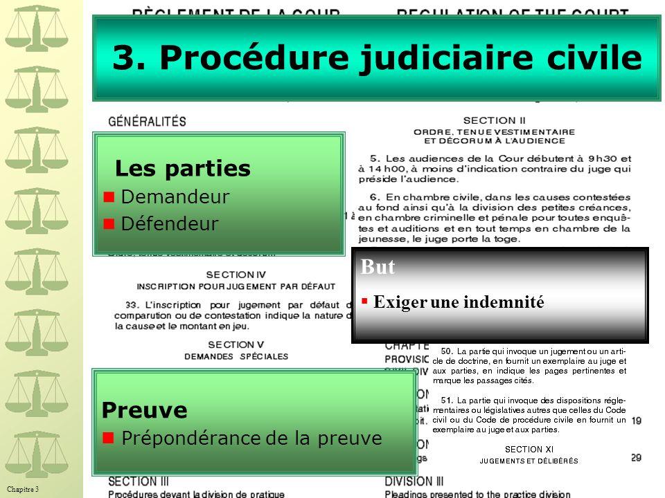3. Procédure judiciaire civile