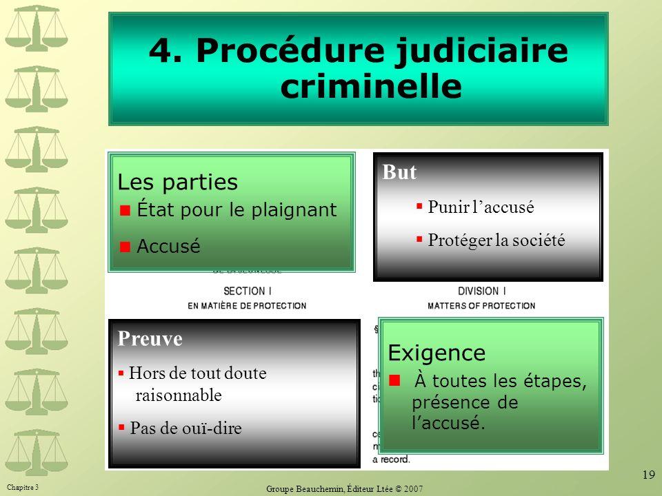 4. Procédure judiciaire criminelle