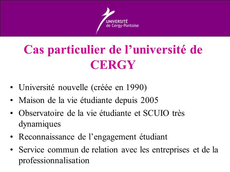 Cas particulier de l'université de CERGY