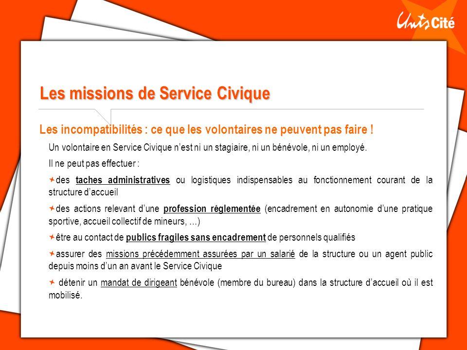 Les missions de Service Civique