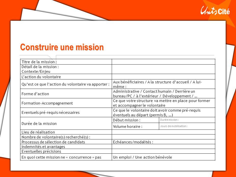 Construire une mission