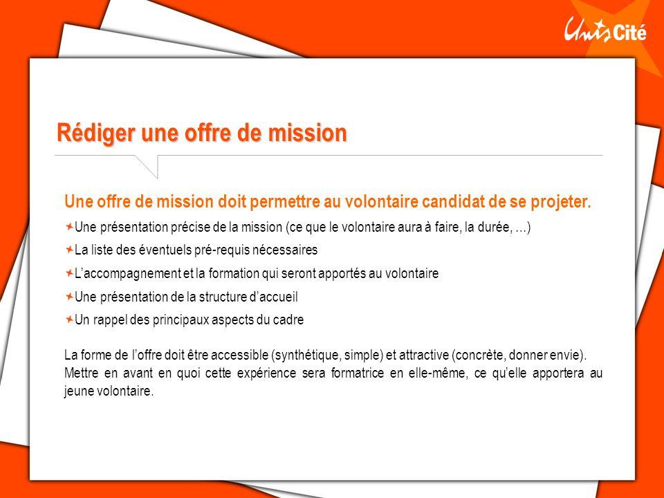 Rédiger une offre de mission