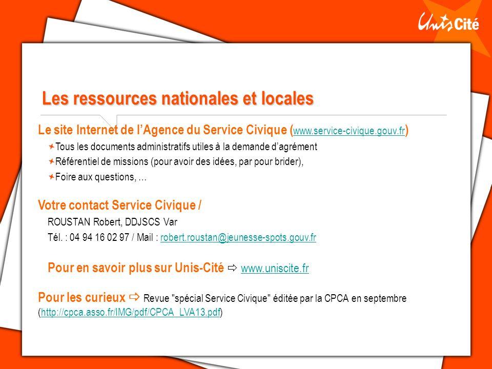 Les ressources nationales et locales