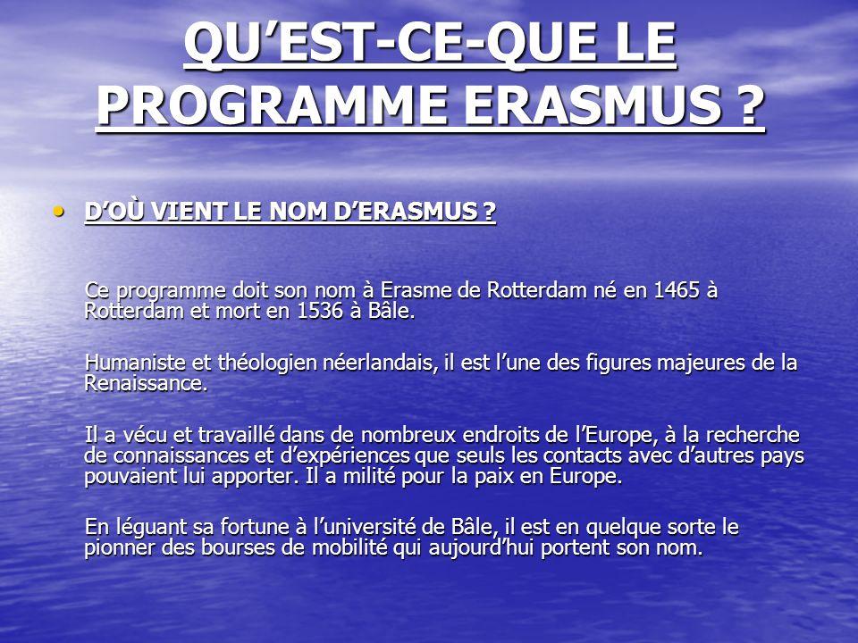 QU'EST-CE-QUE LE PROGRAMME ERASMUS
