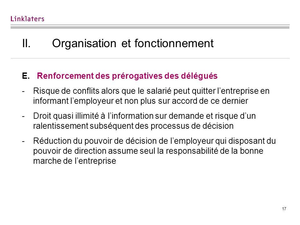 III. Le statut des délégués du personnel