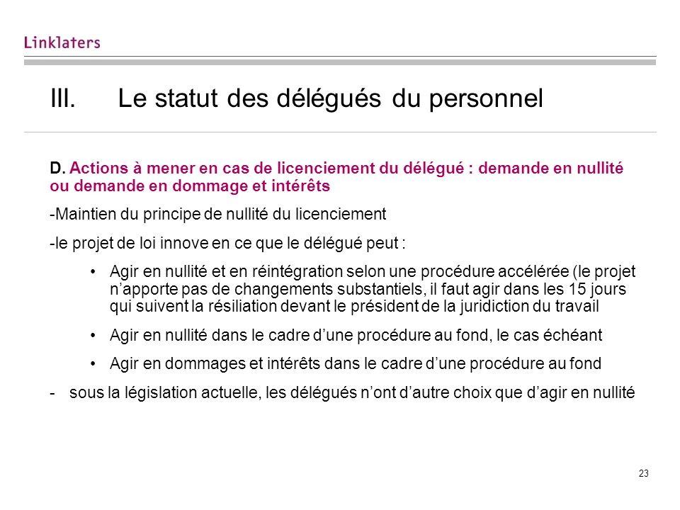 IV. Conclusion Les objectifs de clarification et de facilitation du dialogue social sont-ils atteints