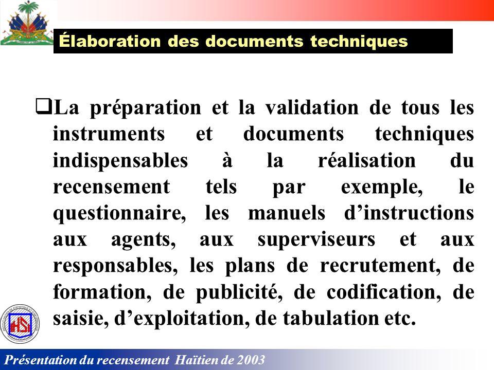 Élaboration des documents techniques