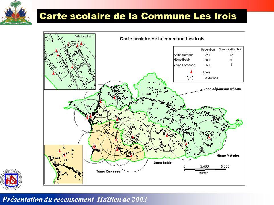 Carte scolaire de la Commune Les Irois