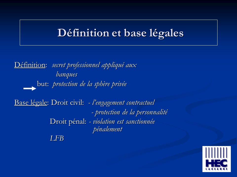 Définition et base légales