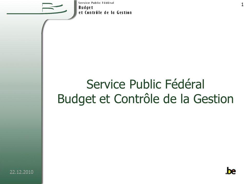 Service Public Fédéral Budget et Contrôle de la Gestion