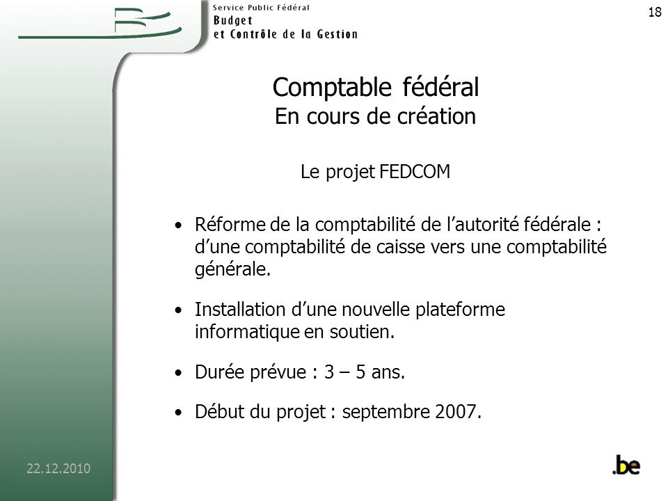 Comptable fédéral En cours de création