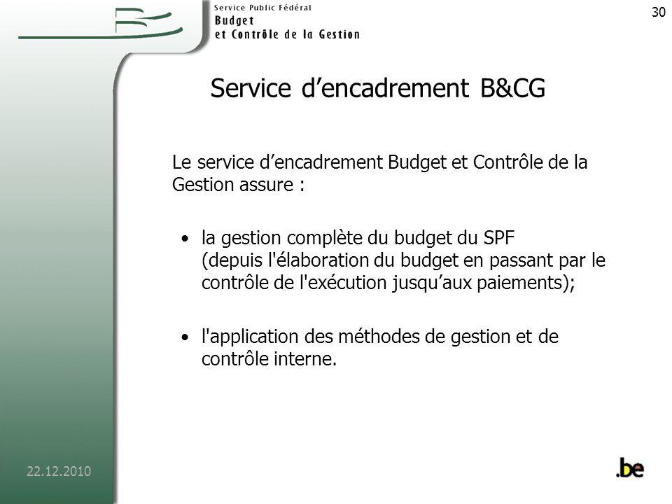 Service d'encadrement B&CG