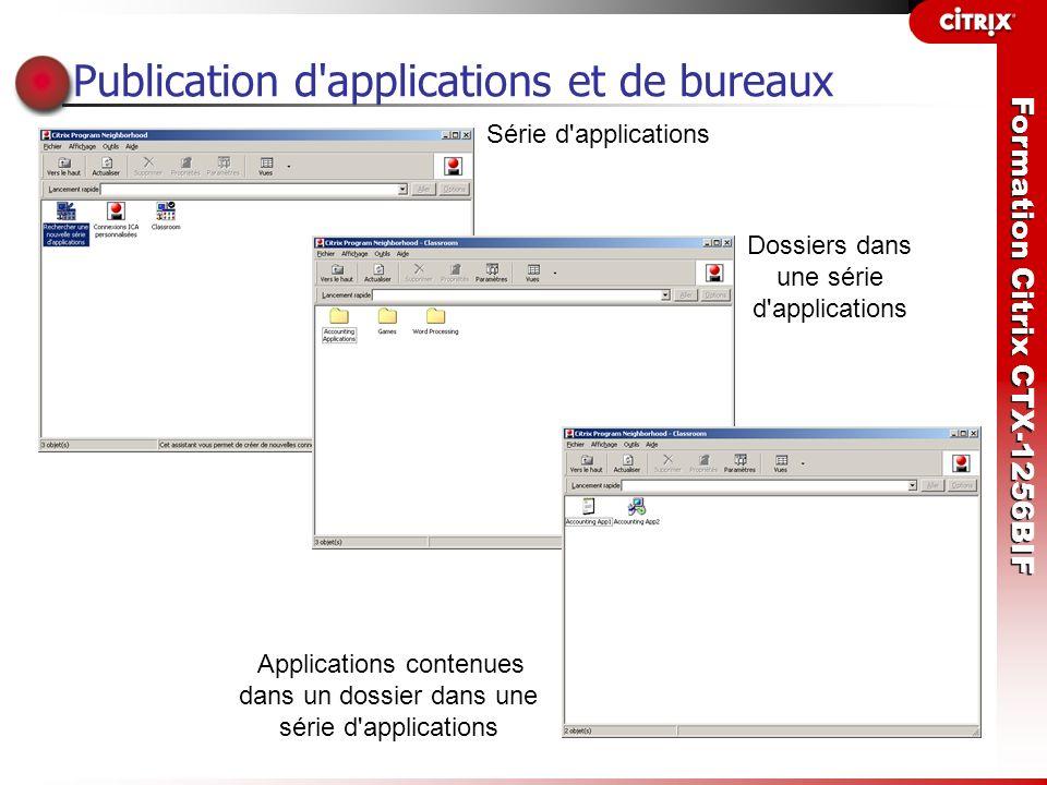 Publication d applications et de bureaux