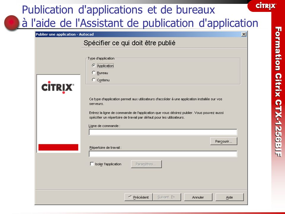 Publication d applications et de bureaux à l aide de l Assistant de publication d application