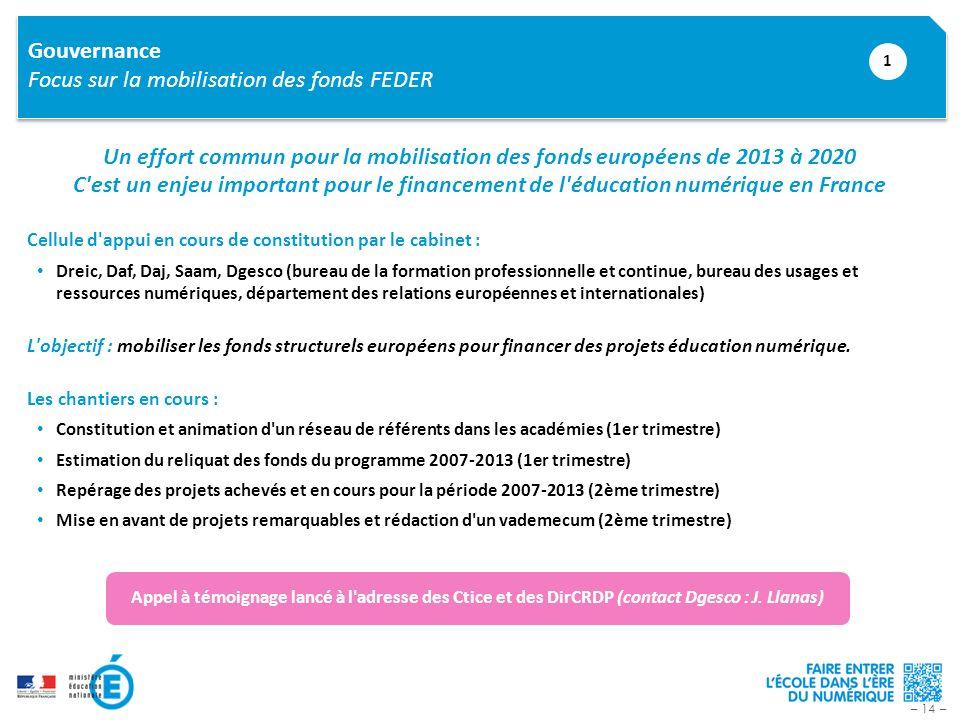 Focus sur la mobilisation des fonds FEDER