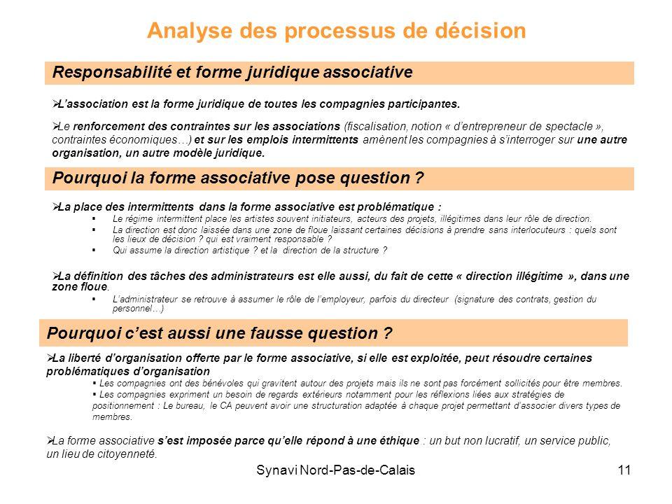 Analyse des processus de décision