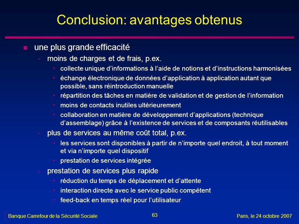 Conclusion: avantages obtenus