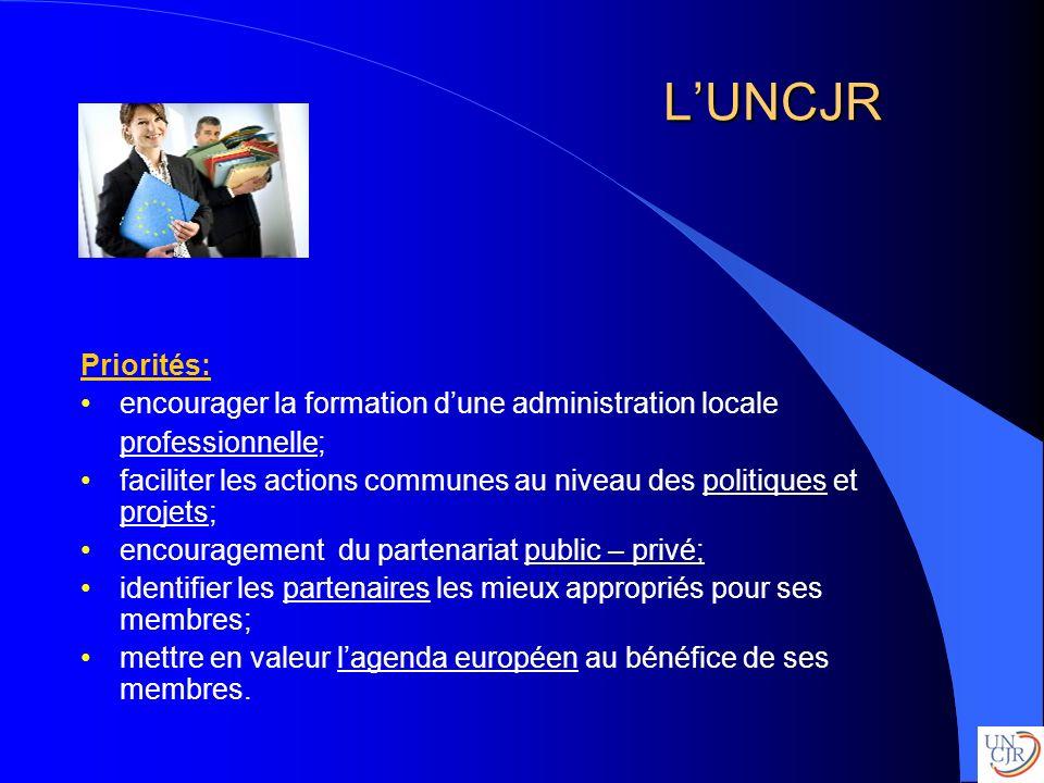 L'UNCJR Priorités: encourager la formation d'une administration locale