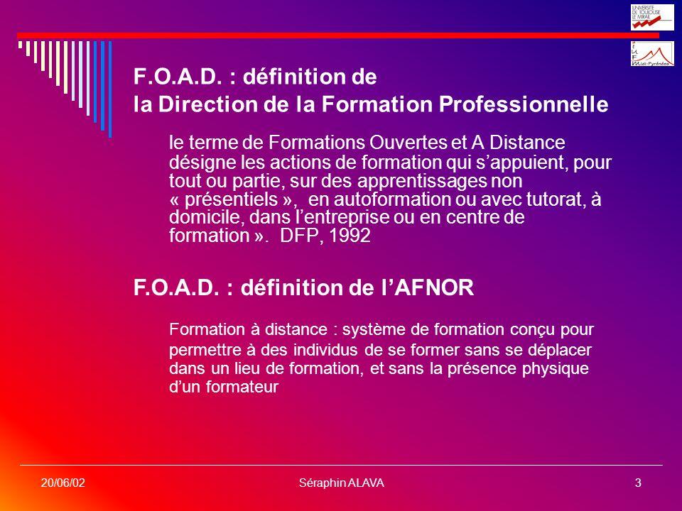 F.O.A.D. : définition de la Direction de la Formation Professionnelle