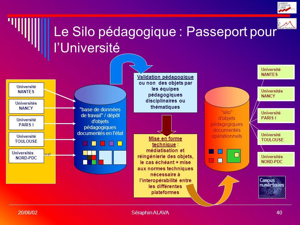 Le Silo pédagogique : Passeport pour l'Université