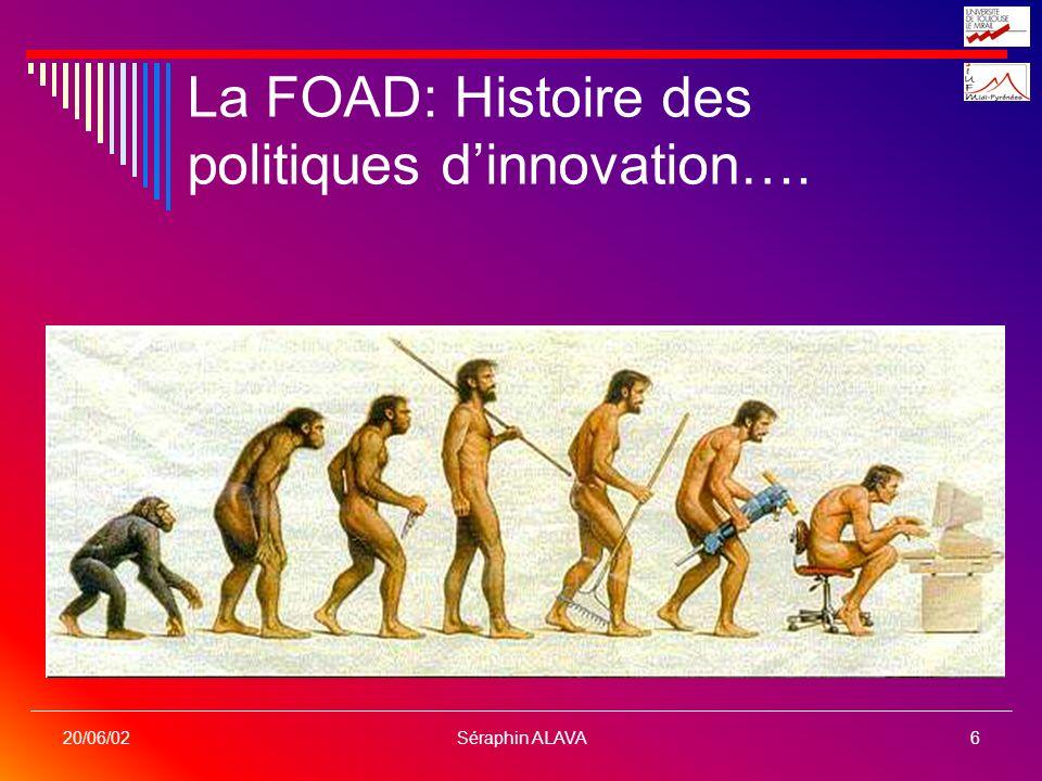 La FOAD: Histoire des politiques d'innovation….