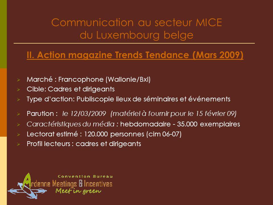 Communication au secteur MICE du Luxembourg belge