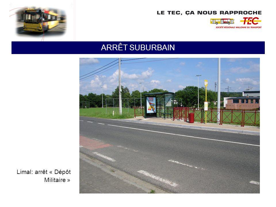 ARRÊT SUBURBAIN Limal: arrêt « Dépôt Militaire »