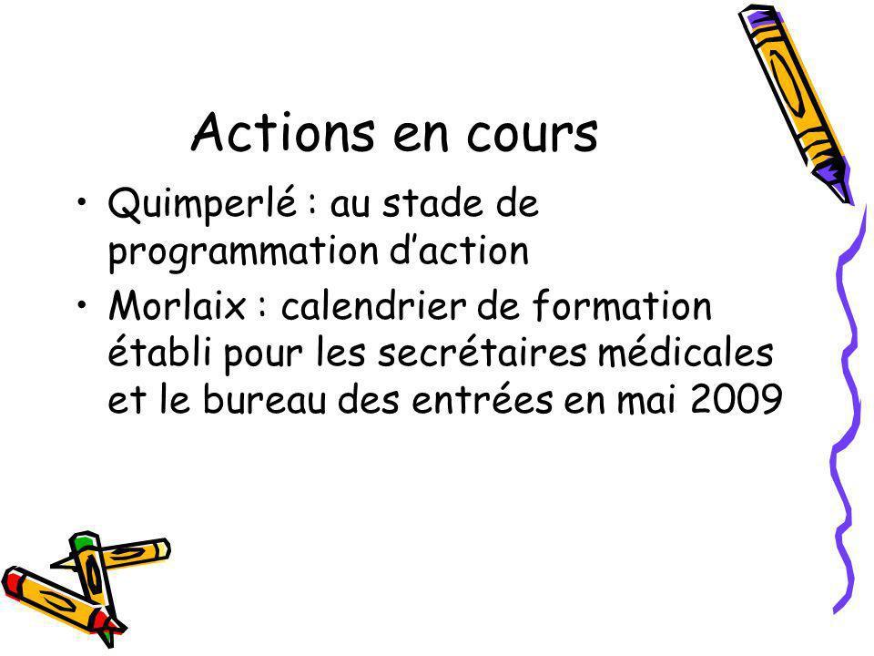Actions en cours Quimperlé : au stade de programmation d'action