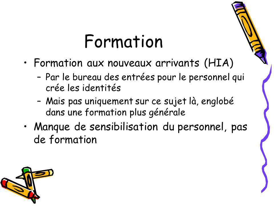 Formation Formation aux nouveaux arrivants (HIA)