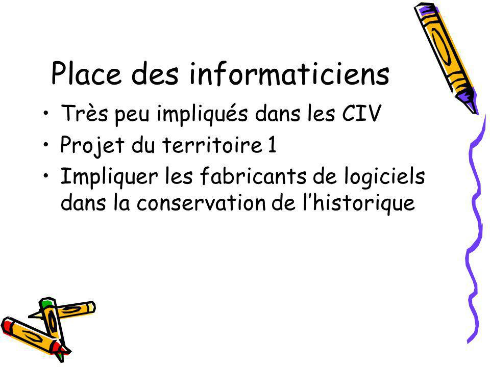 Place des informaticiens