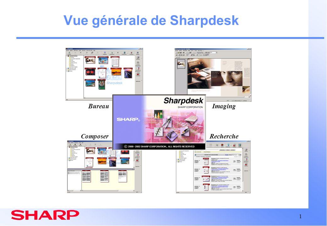 Vue générale de Sharpdesk