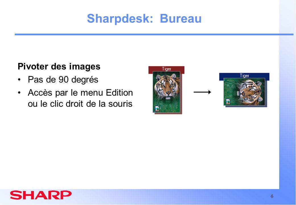 Sharpdesk: Bureau Pivoter des images Pas de 90 degrés