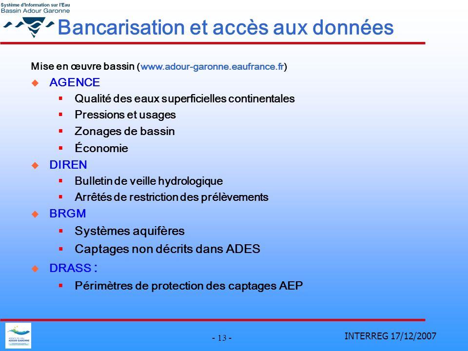 Bancarisation et accès aux données