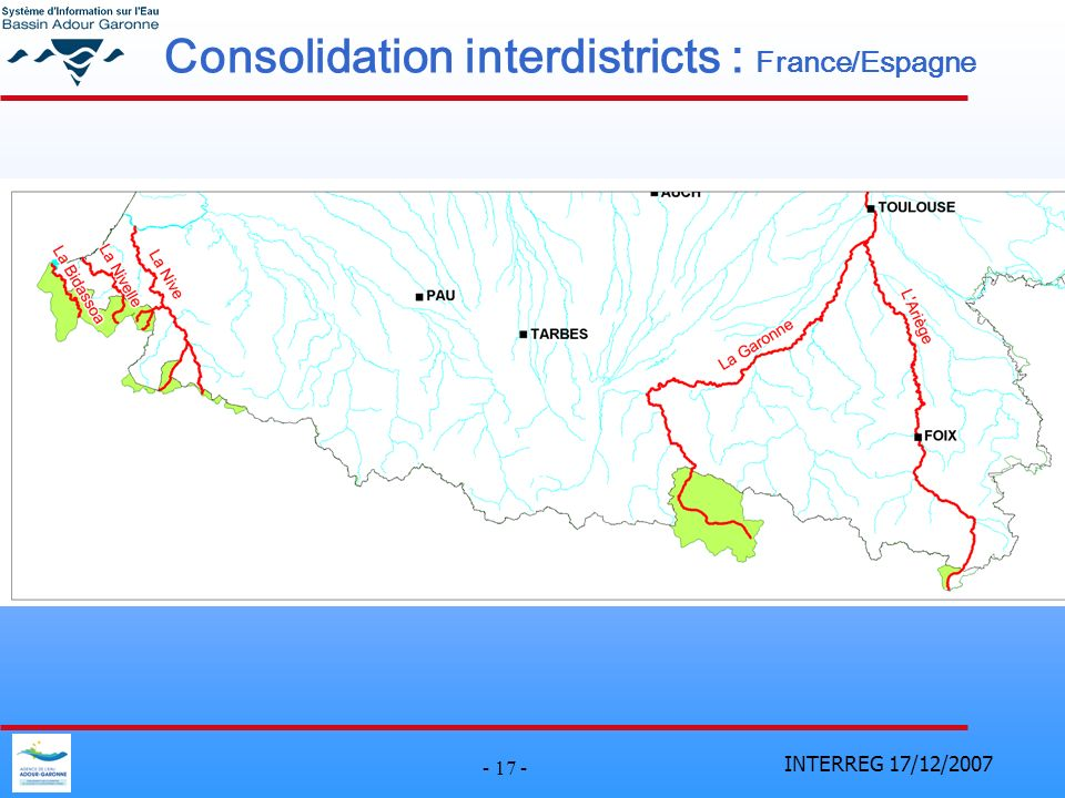 Consolidation interdistricts : France/Espagne