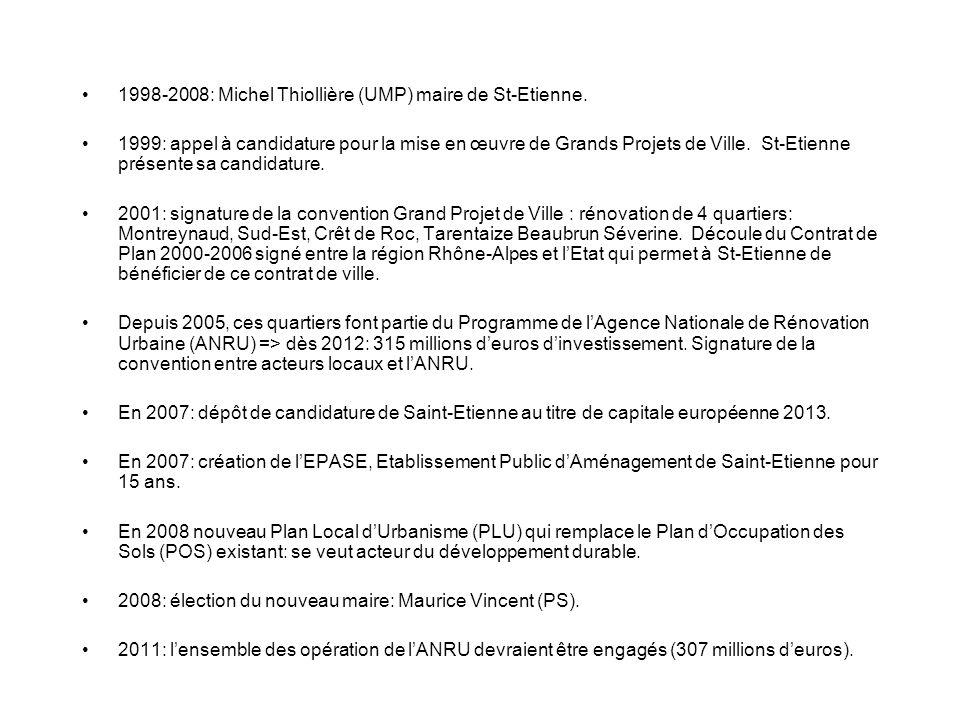1998-2008: Michel Thiollière (UMP) maire de St-Etienne.
