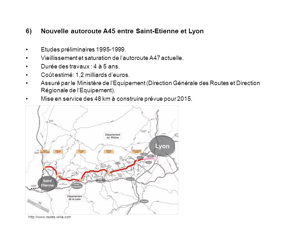 Nouvelle autoroute A45 entre Saint-Etienne et Lyon