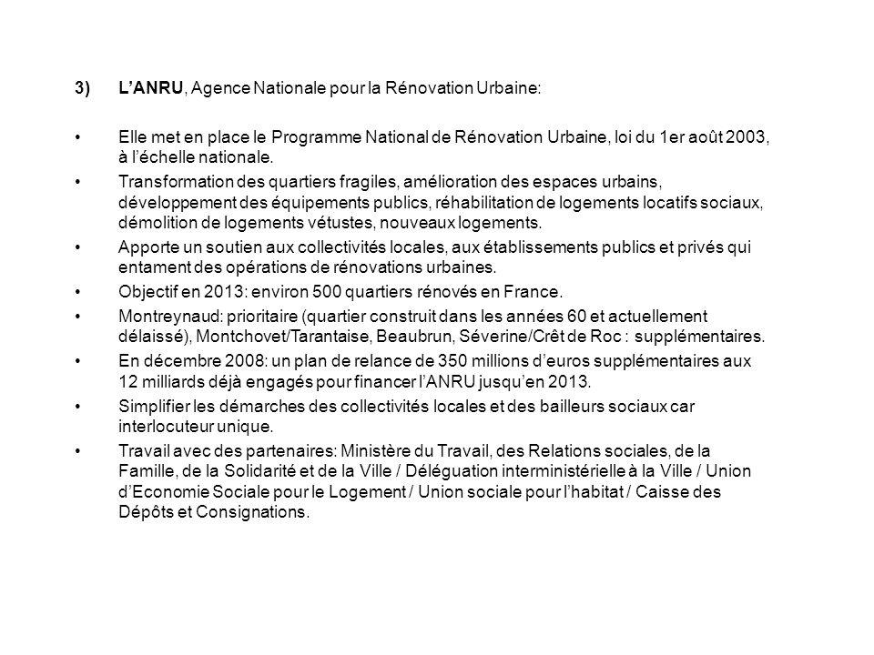 L'ANRU, Agence Nationale pour la Rénovation Urbaine: