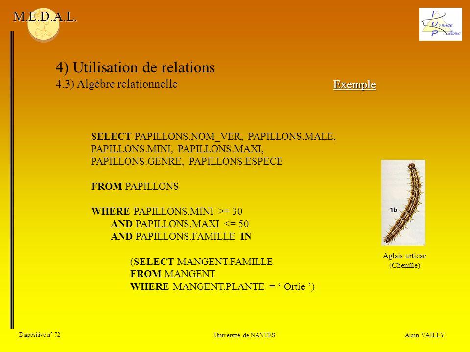 4) Utilisation de relations