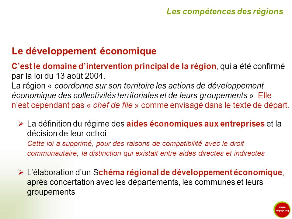 Le développement économique