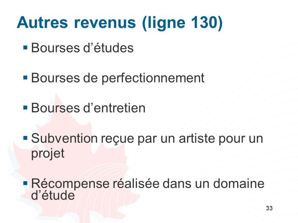 Autres revenus (ligne 130)