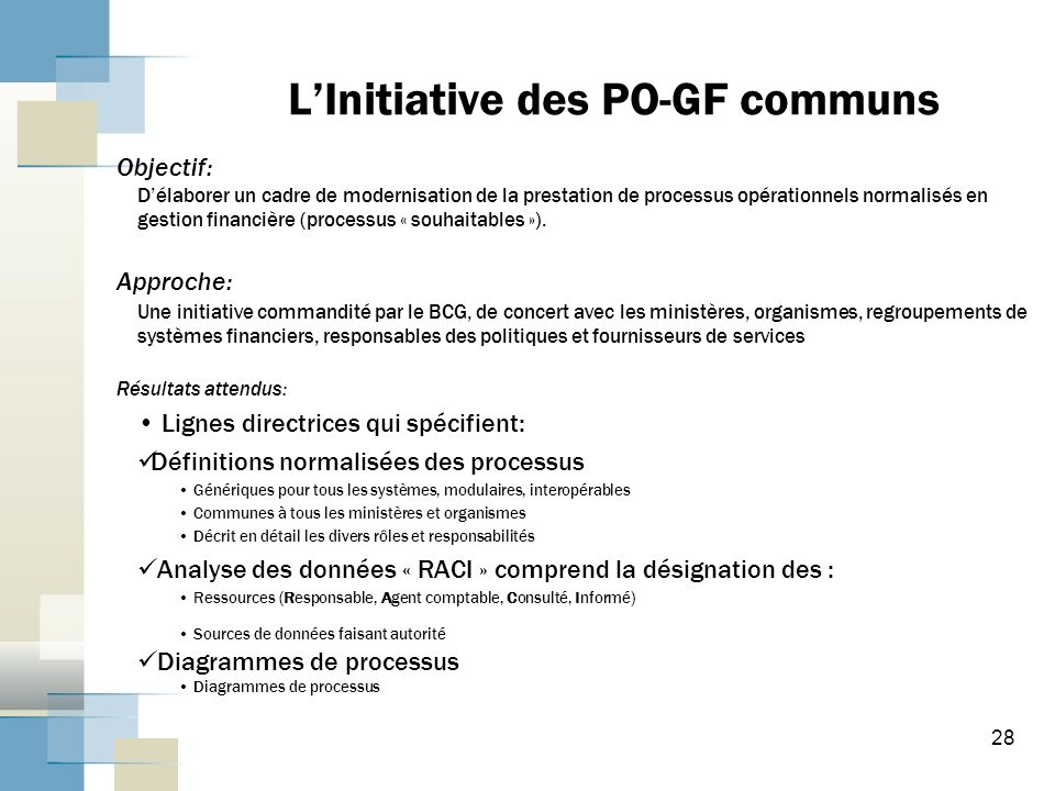 L'Initiative des PO-GF communs