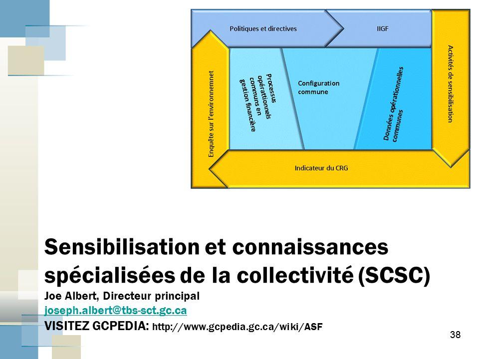 Sensibilisation et connaissances spécialisées de la collectivité (SCSC) Joe Albert, Directeur principal joseph.albert@tbs-sct.gc.ca VISITEZ GCPEDIA: http://www.gcpedia.gc.ca/wiki/ASF