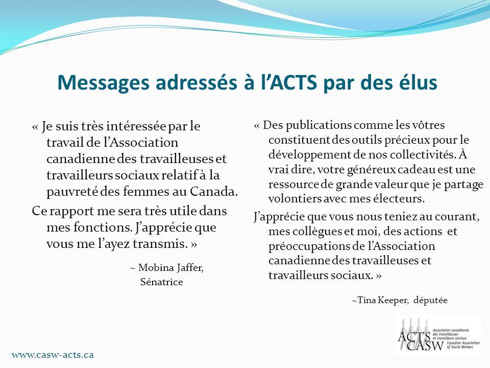 Messages adressés à l'ACTS par des élus