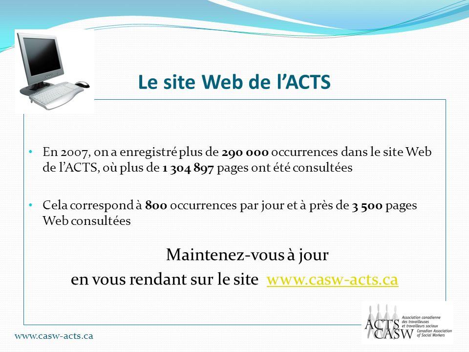 en vous rendant sur le site www.casw-acts.ca