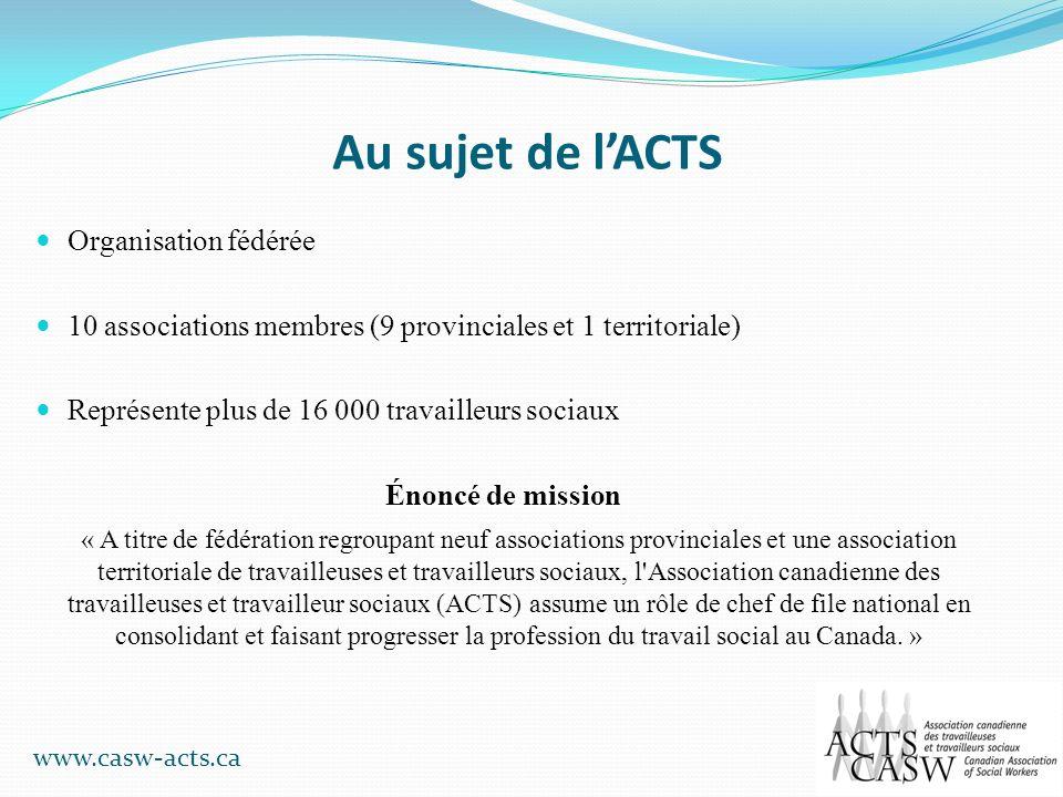 Au sujet de l'ACTS Organisation fédérée
